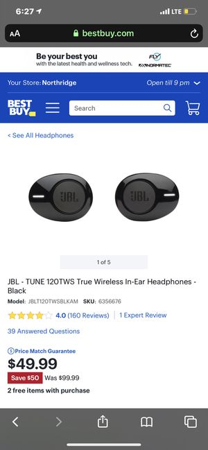 Wanted JBL in tune earbuds for Sale in Los Angeles, CA
