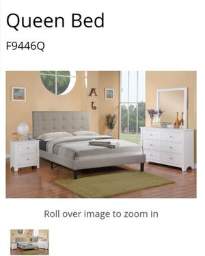 BRAND NEW FULL BED AVAILABLE IN QUEEN ADD DRESSER MIRROR NIGHTSTAND AND ADD MATTRESS AVAILABLE ALL NEW BY USA MEXICO FURNITURE for Sale in Montclair, CA