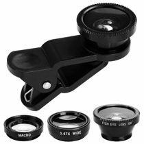 Universal Phone lens kit, Fisheye + Wide Angle + Macro Lens Kit Clip On for iPhone & Android for Sale in Huntington Beach, CA