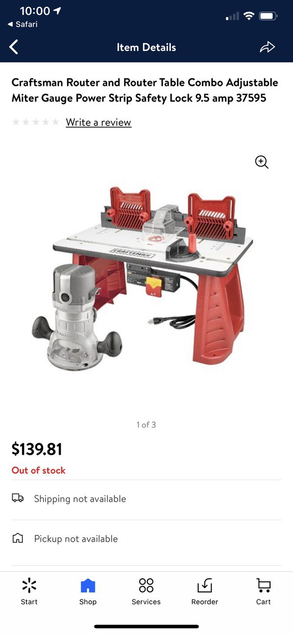 NEW: Craftsman Router Table Combo Unit 37595