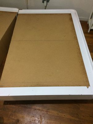 Queen size wood bed frame and headboard for Sale in Columbus, GA