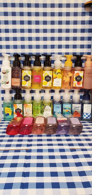 (24) Different Scents Brand New Bath And Body Works Gentle Foaming Hand Soap $6.00 Each for Sale in Gardena, CA