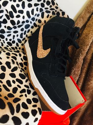*SWAROVSKI BLING* WOMEN'S DUNK SKY HI ESSENTIAL SUEDE SHOE SHOES 100% AUTHENTIC DUNKS for Sale in Downey, CA