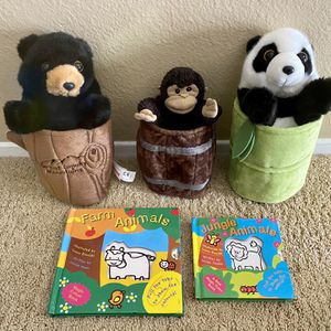 Aurora Hand Puppets - Panda, Bear, Monkey and Kids Book for Sale in Fullerton, CA