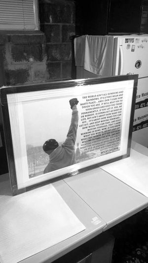 New: Rocky Balboa, framed wall art 24x36 for Sale in New York, NY