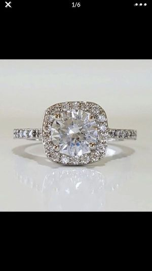 14k gold plated stimulated diamond ring size 5 and 6 available for Sale in Silver Spring, MD