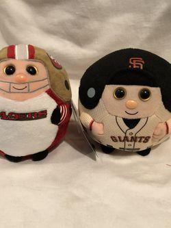TY BEANIE BALLZ SF GIANTS & 49ers for Sale in Petaluma,  CA