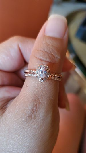 Rose gold over sterling silver ring set for Sale in Los Angeles, CA