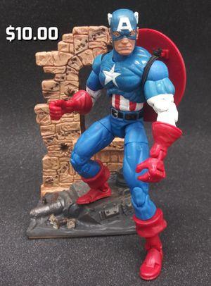 "Custom Marvel Legends 6"" Captain America + Base Action Figure for Sale in Oakland, CA"