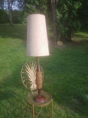Mid century modern lamp with walnut and for Sale in Gibsonia, PA