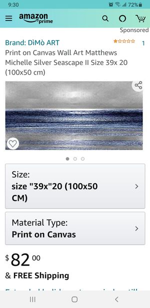Silver Seascape canvas art print for Sale in Palmdale, CA