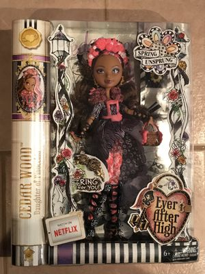 Ever after High Cedar Wood Doll for Sale in Alexandria, VA
