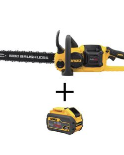 DeWalt 60-Volt MAX Lithium-Ion Cordless FLEXVOLT Brushless 16 Inch Chainsaw with 2.0Ah Battery and Charger Included for Sale in Boca Raton,  FL