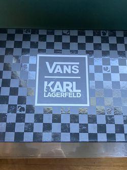 Vans KARL LAGERFELD Black Leather As. 5.5 6 Women' for Sale in Seattle,  WA