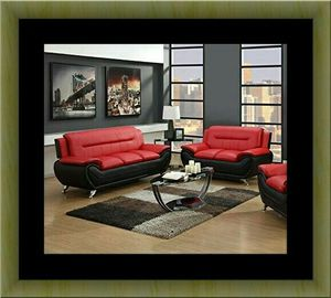 Red and black sofa and loveseat two tone for Sale in Alexandria, VA