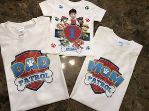 Custom printed shirts for your next Disney trip or birthday party for Sale in Garden Grove, CA