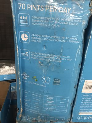 Dehumidifier 70 pints for Sale in Rosemead, CA