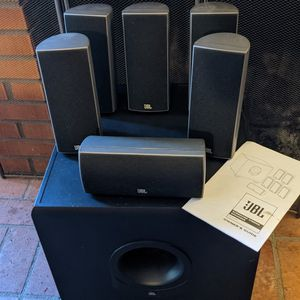 JBL 6.1 Channel Speakers With 150 Watt Subwoofer for Sale in San Diego, CA