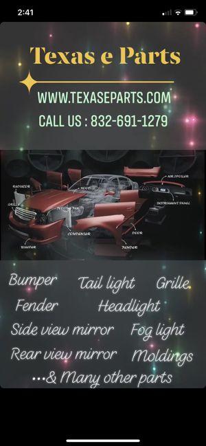 Auto Parts Bumper Grille Mirror Light Molding Trim Fender Headlight Reflector Fan Core ReBar Body Panel for Sale in Sugar Land, TX