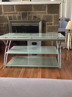 Frosted glass-top TV stand for Sale in Washington, DC