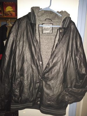 Aropostale leather jacket/hoodie for Sale in Pittsburgh, PA