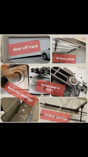 Garage door springs garage door opener genie professional brand installed Lowest prices in Phoenix I asked quality parts longest warranty contact tod for Sale in Glendale, AZ