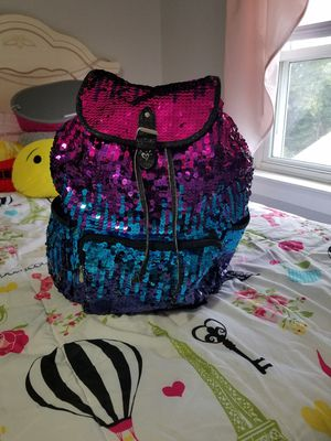 Justice sequin backpack for Sale in Lynn, MA