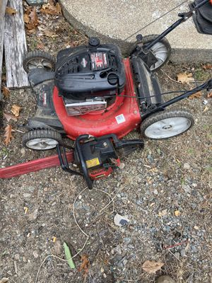 Lawn mower and chainsaw for Sale in Lynn, MA