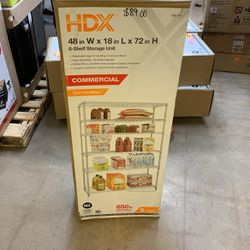 HDX Chrome 6-Tier Heavy Duty Metal Wire Shelving Unit (48 in. W x 72 in. H x 18 in. D) for Sale in Phoenix,  AZ