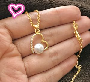 18K Gold Filled Pearl Heart Necklace for Sale in San Ramon, CA