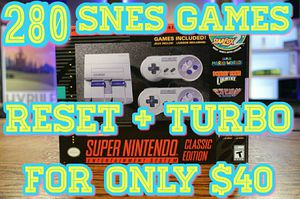 280+ GAMES SNES MODDING Super Nintendo Mini Classic Edition RESET + TURBO Hack Modded Mod NES - $40 CASH - TAKES ONLY 5 MINUTES!! for Sale in Palatine, IL