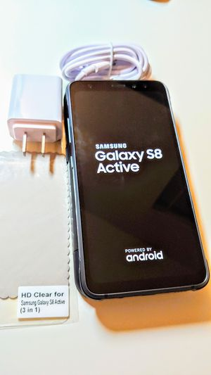 5.8 inch huge screen waterproof and shock resistance. Samsung galaxy s8 Active. gsm unlocked Free screen protector and Free phone case for Sale in Irving, TX