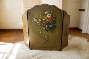 Antique hand painted fireplace screen for Sale in Los Angeles, CA