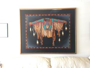 4' x 5' print on canvas - Native American warrior shirt for Sale in Germantown, MD