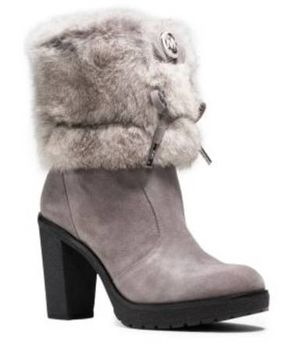 Michael Kors Hawthorne Rabbit Fur And Suede Ankle Boots for Sale in San Bruno, CA