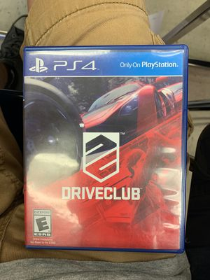 DriveClub for Playstation 4 for Sale in Abilene, TX