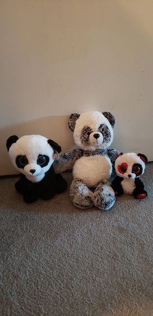 Panda plushies for Sale in Ontario, CA