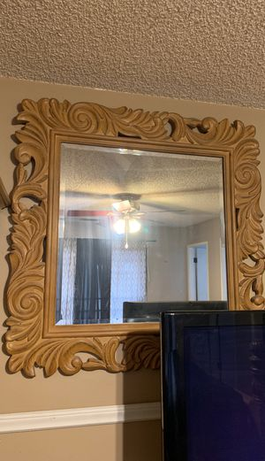 Large mirror good wood for Sale in Clovis, CA