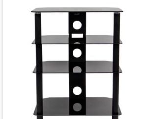 New NavePoint 4 Glass Shelf Audio Video Component Storage Tower for Sale in Rancho Cucamonga, CA