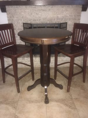 Pub table with restaurant quality bar chairs for Sale in Mesa, AZ
