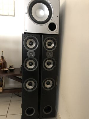 "Polk audio 60 series ll floorstanding speakers plus psw 10 10"" powered subwoofer plus sub cable for Sale in Miami Beach, FL"