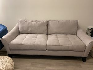 Gray Microsuede Sofa for Sale in Washington, DC