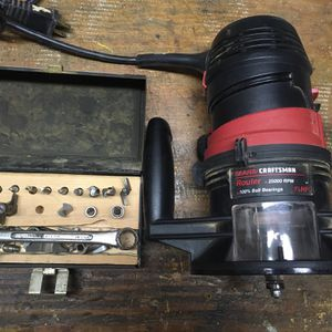 Craftsman Router And Bits for Sale in Nashville, TN