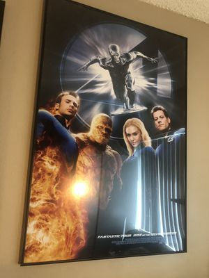 "40""x26"" Fantastic Four: Rise of the Silver Surfer Poster with Frame for Sale in Los Angeles, CA"