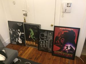 Framed Posters Negotiable for Sale in New York, NY