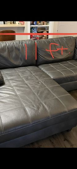 Black Leather Sectional Couch for Sale in Austin,  TX