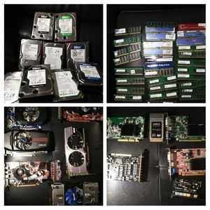 Computers PC gaming parts hard drives video cards motherboards for Sale in Tigard, OR