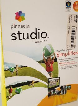 Pinnacle Studio Version 12 Movie Editing DVD for Windows Vista New for Sale in St. Petersburg,  FL