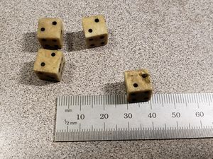 Old Vintage set of 4 dice 10 mm for Sale in Chambersburg, PA