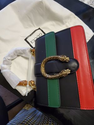 Gucci Dionysus Bamboo Black, Red and Green leather shoulder bag. for Sale in Annandale, VA